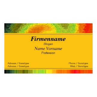 colors pack of standard business cards