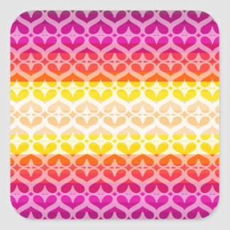 Colors collection square sticker