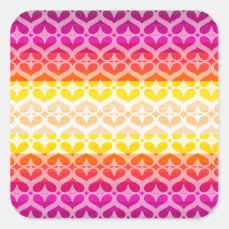 Colors collection square sticker