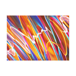 'Colors Dancing' Art Canvas Print