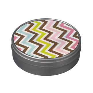 Colors Diagonal Zigzag Chevron Pattern