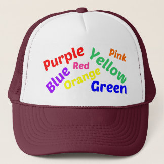 Colors game trucker hat