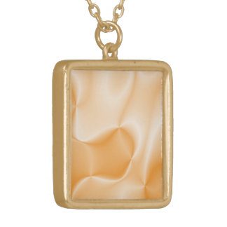 colors in motion,peach (I) Gold Plated Necklace