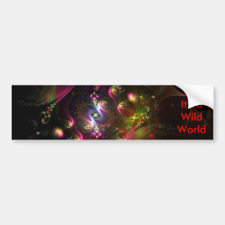 Colors in the Sky Abstract Car Bumper Sticker