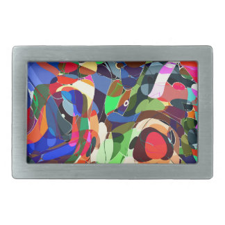 Colors mashup belt buckle