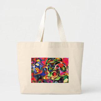 Colors mashup large tote bag
