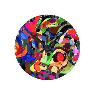 Colors mashup round clock