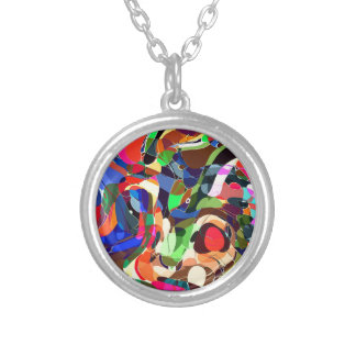 Colors mashup silver plated necklace