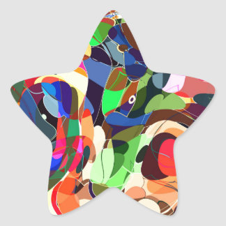 Colors mashup star sticker