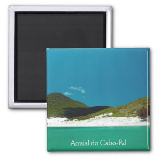 Colors of Arraial of the Handle Square Magnet