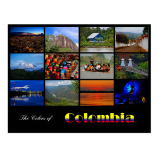 Colors of Colombia Travel Post Card