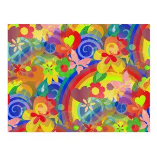 Colors Of Flower Power Postcard
