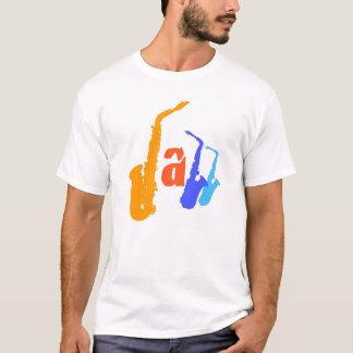 Colors of Jazz Sax Illustration Tee 1