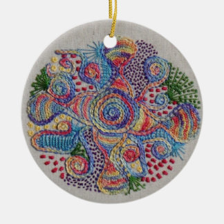 Colors of Life Mandala Ceramic Ornament