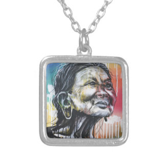 Colors of life silver plated necklace
