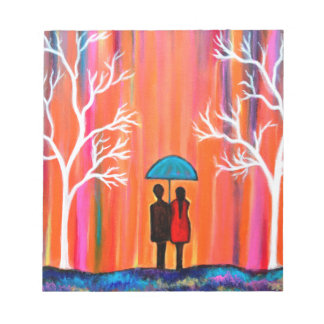 Colors of Love colorful romantic painting giftart Notepad