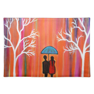 Colors of Love colorful romantic painting giftart Placemat