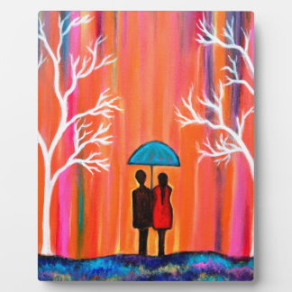 Colors of Love colorful romantic painting giftart Plaque