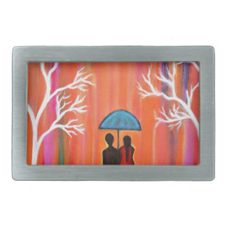 Colors of Love colorful romantic painting giftart Rectangular Belt Buckle