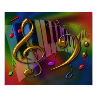colors of music 20x24 poster