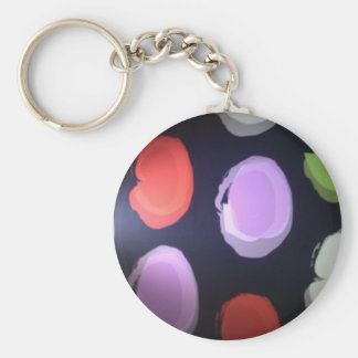 Colors of my life Big polkadot.JPG Basic Round Button Keychain