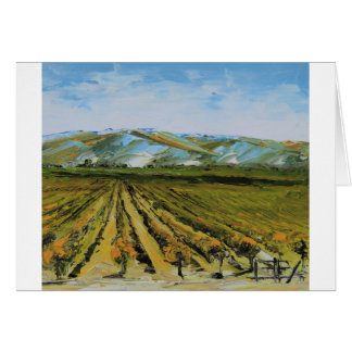 Colors of Napa Valley, Wine Country California Card