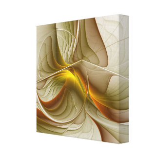 Colors of Precious Metals, Abstract Fractal Art Canvas Print