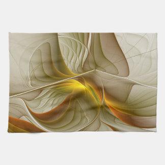 Colors of Precious Metals, Abstract Fractal Art Kitchen Towel
