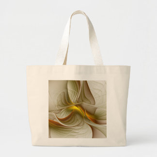Colors of Precious Metals, Abstract Fractal Art Large Tote Bag