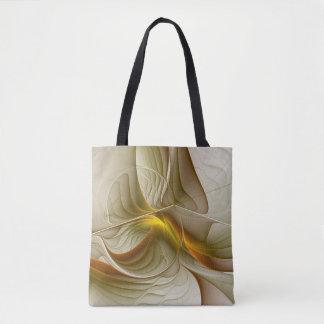 Colors of Precious Metals, Abstract Fractal Art Tote Bag