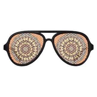 Colors of Rust 785_M, mandala-style Aviator Sunglasses