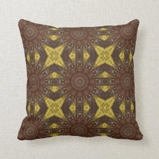 Colors of Rust / mandala-style Throw Pillow