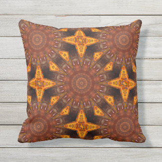 Colors of Rust / mandala-style Throw Pillow
