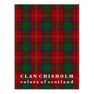 Colors of Scotland Clan Chisholm Tartan Postcard