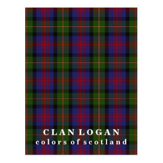 Colors of Scotland Clan Logan Tartan Postcard