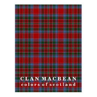 Colors of Scotland Clan MacBean Tartan Postcard