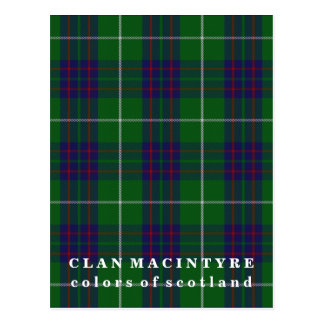 Colors of Scotland Clan MacIntyre Tartan Postcard