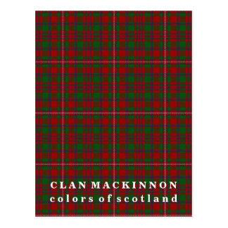 Colors of Scotland Clan MacKinnon Tartan Postcard