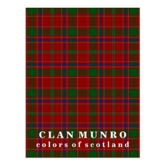 Colors of Scotland Clan Munro Tartan Postcard