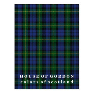 Colors of Scotland House of Gordon Tartan Postcard