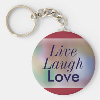 Colors of Sunset Live Laugh Love Keychain