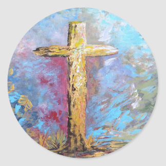 Colors of the Cross Classic Round Sticker