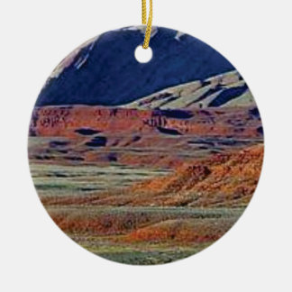 colors of the desert ceramic ornament