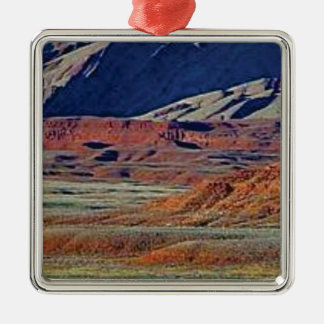 colors of the desert metal ornament