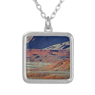 colors of the desert silver plated necklace