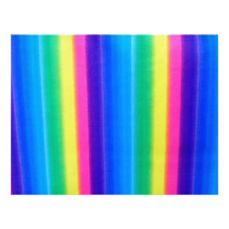 Colors of the Rainbow Striped Scrapbooking Paper Custom Letterhead