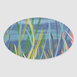Colors of the Sea Oval Sticker