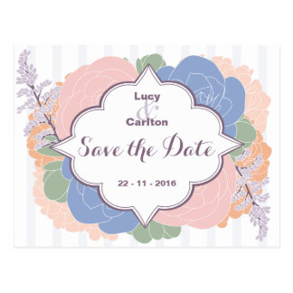 Colors of the Year Save the Date Postcard