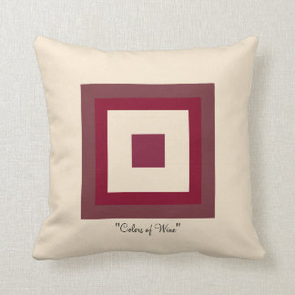 Colors of Wine Throw Pillow