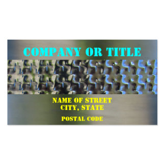 Colors On Stainless Steel Business Card